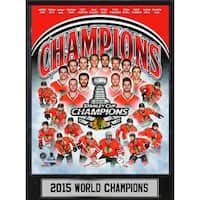 2015 Stanley Cup Champions Chicago Blackhawks 9x12 Plaque