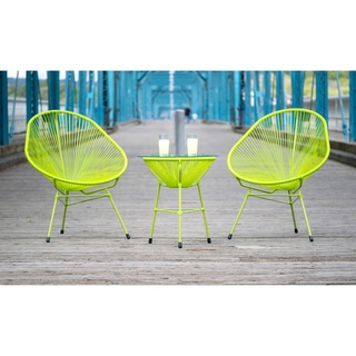 Decorative Modern Green Indoor/Outdoor Bistro Dining Set