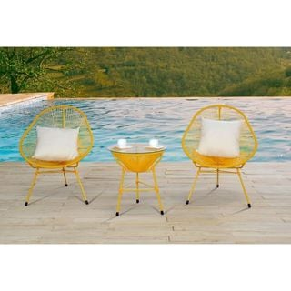 Decorative Modern Yellow Indoor/Outdoor Bistro Dining Set