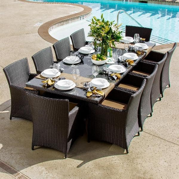 Shop Avery Island 10 Person Resin Wicker Patio Dining Set With