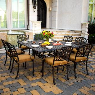 Evangeline Cast Aluminum 8-person Patio Dining Set