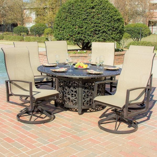 Acadia 6 Person Sling Patio Dining Set