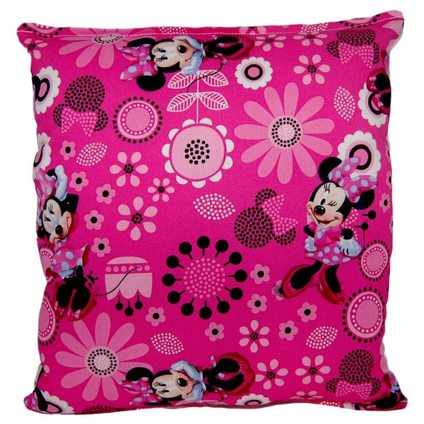 Disney Minnie Mouse Reversible Accessory and Travel Throw Pillow ...