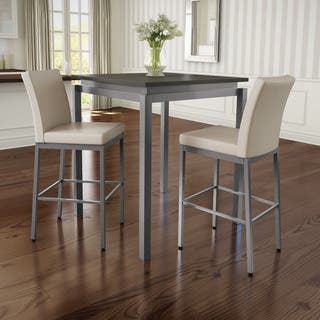 Amisco Perry Metal Counter Stools And Cameron Table Pub Set In Grey