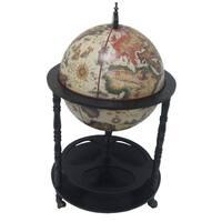 Firenze Italian Style 20-inch Diameter 4-Leg Floor Globe Bar - White