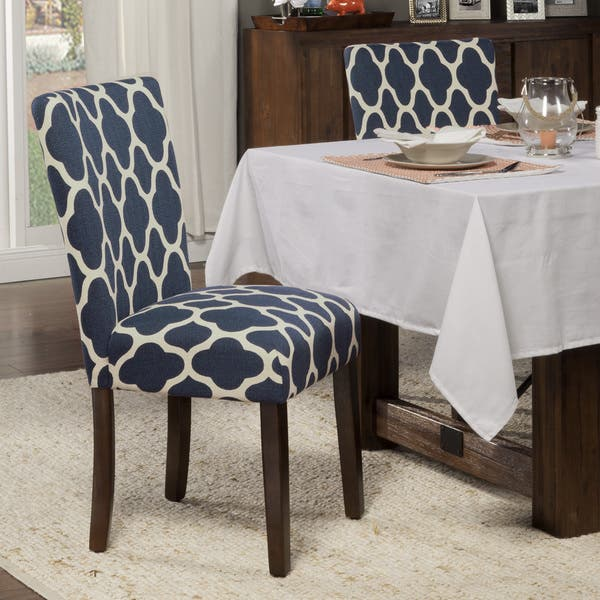 Shop HomePop Classic Parsons Dining Chair Geo Brights Navy