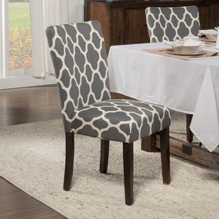HomePop Geo Gray Parson Chairs (Set of 2)