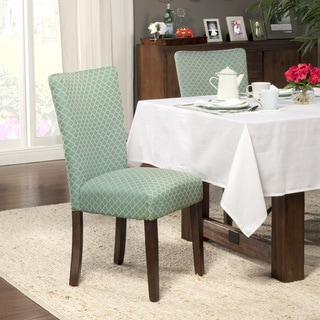 HomePop Elegance Aqua Parson Chairs (Set of 2)