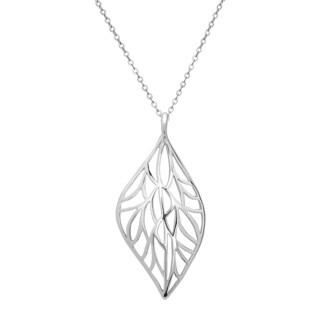 La Preciosa Sterling Silver Leaf Pendant
