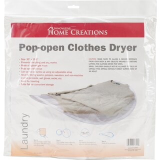 Collapsible Sweater Dryer 30inX29.5in White