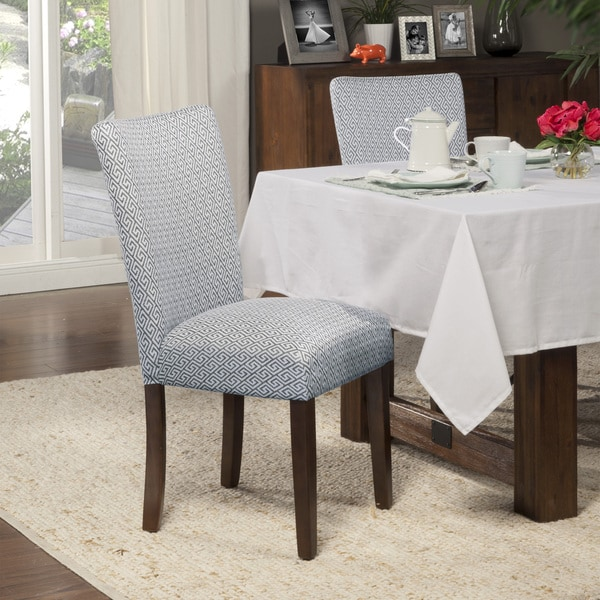 HomePop Blue Shades Parson Chairs (Set Of 2)