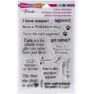 Stampendous Perfectly Clear Stamps 4inX6in Pkg Cat Sayings