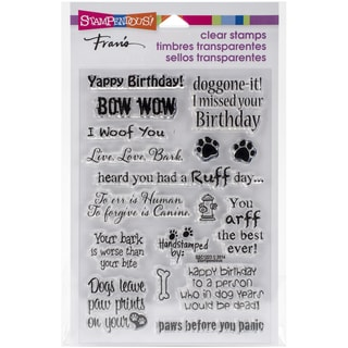 Stampendous Perfectly Clear Stamps 4inX6in Pkg Dog Sayings