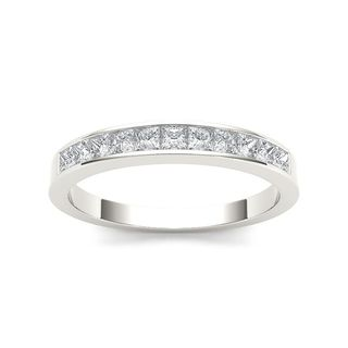 De Couer 14k White Gold 5/8ct TDW Diamond Women's Wedding Band - White H-I (More options available)
