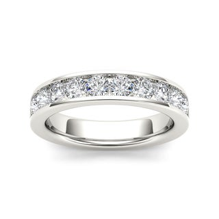 De Couer 14k White Gold 1ct TDW Diamond Women's Wedding Band - White H-I