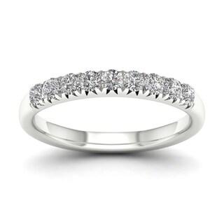 De Couer 14k White Gold 2/5ct TDW Diamond Women's Wedding Band - White H-I