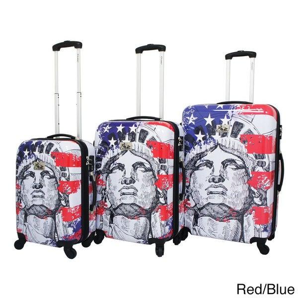Liberty 3-Piece Hardside Lightweight Expandable Upright Spinner Luggage Set with TSA Lock