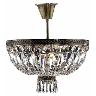 Metropolitan D16-inch x H14-inch 4-light Antique Bronze Finish Ceiling Light