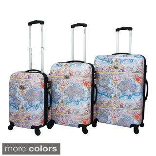 One World 3-Piece Hardside Lightweight Expandable Upright Spinner Luggage Set