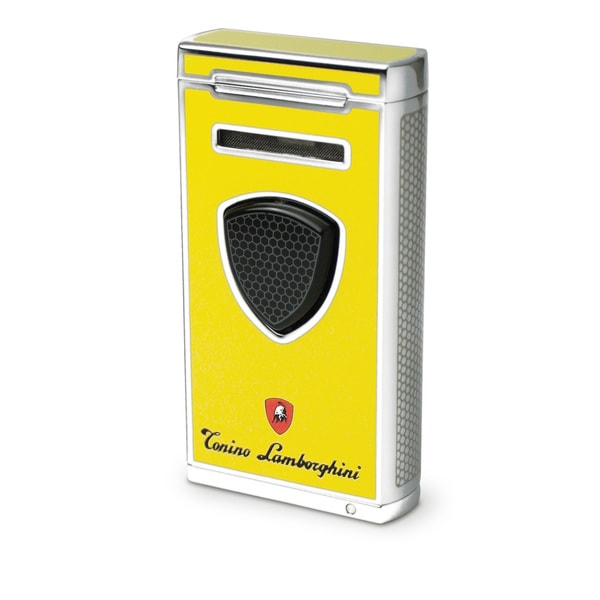 Tonino Lamborghini Pergusa Yellow Torch Flame Lighter (Ships Degassed)