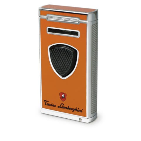 Tonino Lamborghini Pergusa Orange Torch Flame Lighter (Ships Degassed)