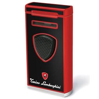Tonino Lamborghini Pergusa Black And Red Torch Flame Lighter (Ships Degassed)