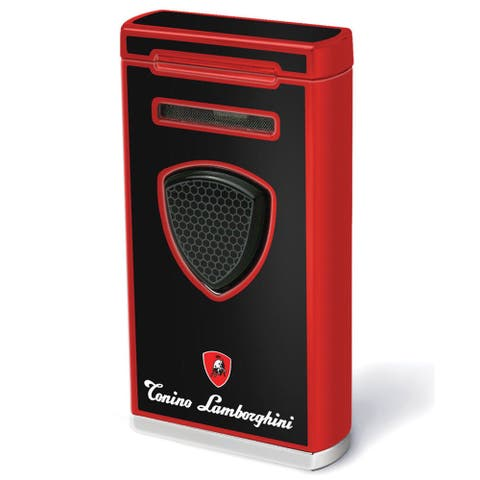 Tonino Lamborghini Pergusa Black And Red Torch Flame Lighter (Ships Degassed)