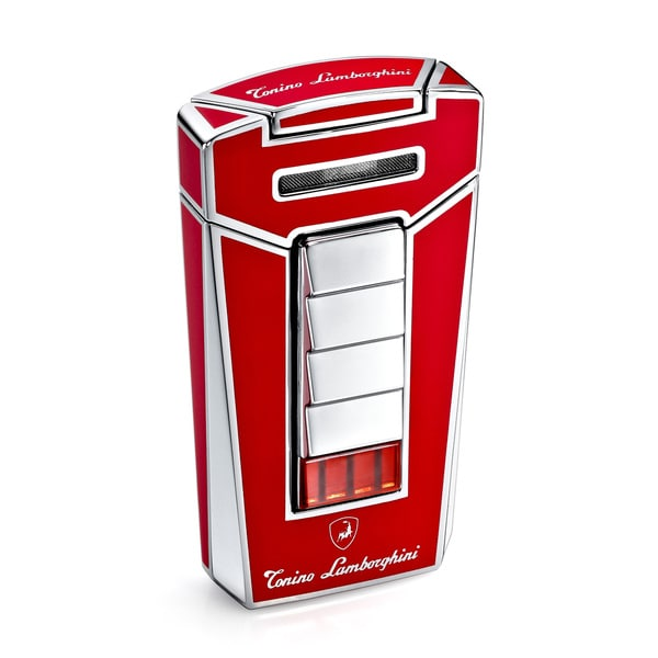 Tonino Lamborghini Aero Red Torch Flame Cigar Lighter (Ships Degassed)
