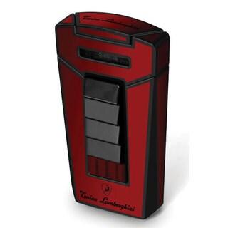 Tonino Lamborghini Aero Red and Black Torch Flame Cigar Lighter (Ships Degassed)