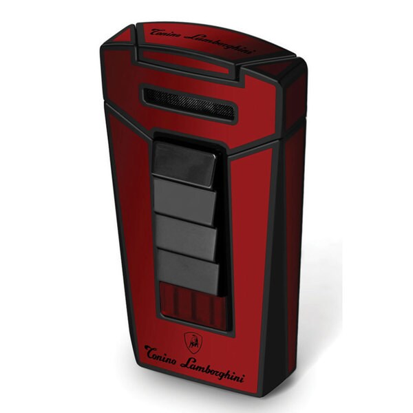 Tonino Lamborghini Aero Red and Black Torch Flame Cigar Lighter (Ships Degassed)