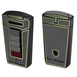 Tonino Lamborghini Aero Metallic Gray With Green Lines Torch Flame Cigar Lighter (Ships Degassed)