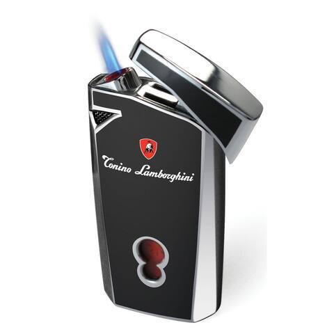 Tonino Lamborghini Magione Black Torch Flame Cigar Lighter (Ships Degassed)