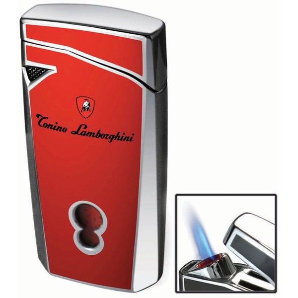 Tonino Lamborghini Magione Red Torch Flame Cigar Lighter (Ships Degassed)
