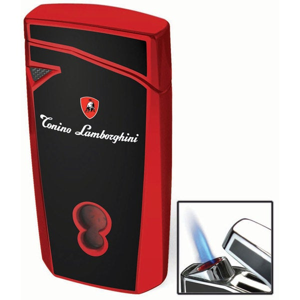 Tonino Lamborghini Magione Black With Red Torch Flame Cigar Lighter (Ships Degassed)