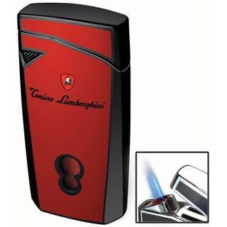 Tonino Lamborghini Magione Red With Black Torch Flame Cigar Lighter (Ships Degassed)