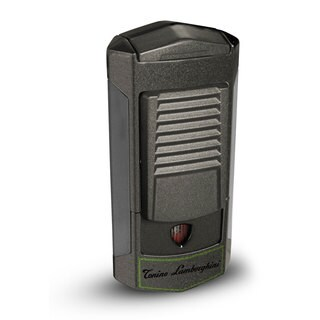 Tonino Lamborghini Sepang Metallic Grey with Green Lines Triple Torch Lighter (Ships Degassed)