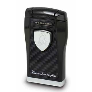 Tonino Lamborghini Argo Lighter - Black with Black Carbon Fiber (Ships Degassed)