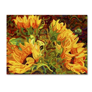 Mandy Budan 'Four Sunflowers' Gallery Wrapped Canvas Art