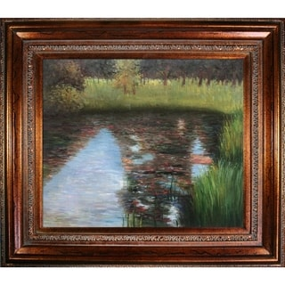 Gustav Klimt 'The Swamp' Hand Painted Framed Canvas Art