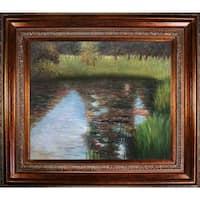 Gustav Klimt 'The Swamp' Hand Painted Framed Canvas Art