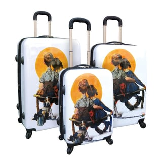 Curtis Publishing 3-Piece Expandable ABS Luggage Set with 360 4-Wheel System