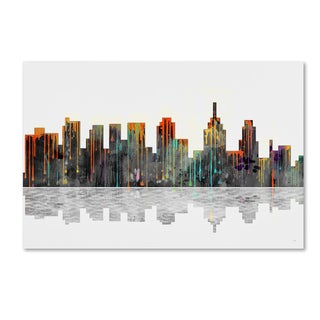Marlene Watson 'Philadelphia Pennsylvania Skyline' Gallery Wrapped Canvas Art