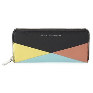 Marc By Marc Jacobs Black Multi Sophisticato Hvac Slim Zip-around Wallet