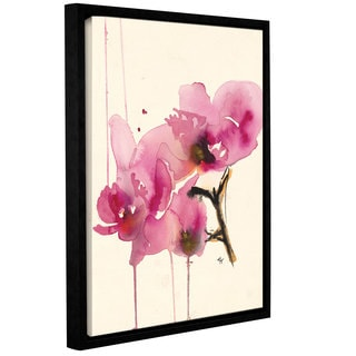 ArtWall Karin Johannesson 'Orchids Ii' Gallery-wrapped Floater-framed Canvas