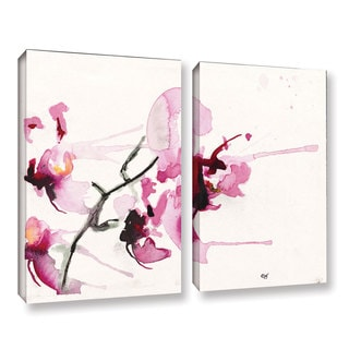 ArtWall Karin Johannesson 'Orchids Iii' 2 Piece Gallery-wrapped Canvas Set