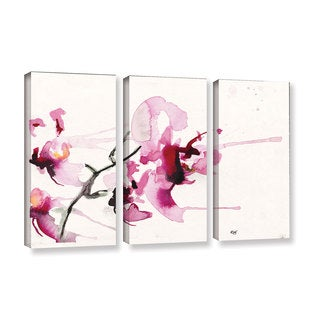 ArtWall Karin Johannesson 'Orchids Iii' 3 Piece Gallery-wrapped Canvas Set
