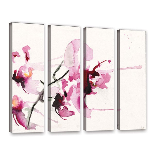 ArtWall Karin Johannesson 'Orchids Iii' 4 Piece Gallery-Wrapped Canvas Set
