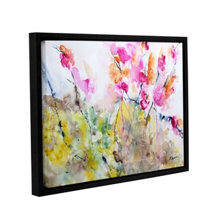 ArtWall Karin Johannesson 'Summer Pink' Gallery-wrapped Floater-framed Canvas