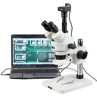 3.5X-180X Manufacturing 144-LED Zoom Stereo Microscope with 1.3MP Digital Camera
