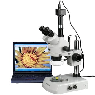 3.5X-90X LED Trinocular Zoom Stereo Microscope with 10MP Digital Camera